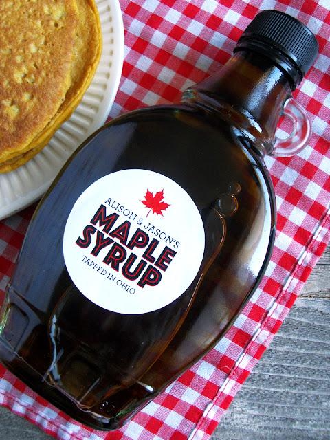 Custom Modern Maple Syrup Labels