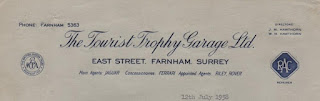 Tourist Trophy Ltd letterhead