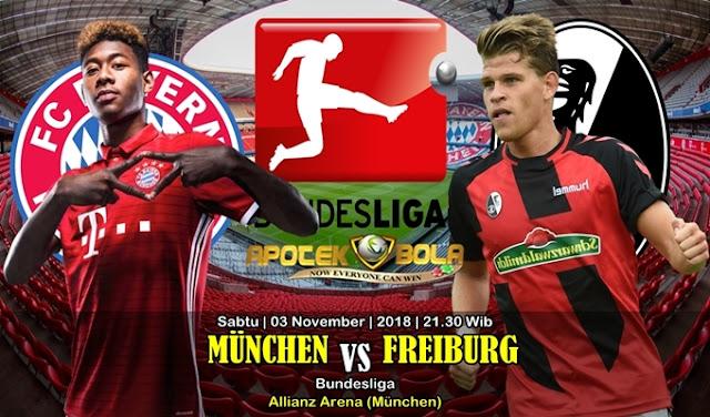 Prediksi Bayern Munchen vs Freiburg 3 November 2018