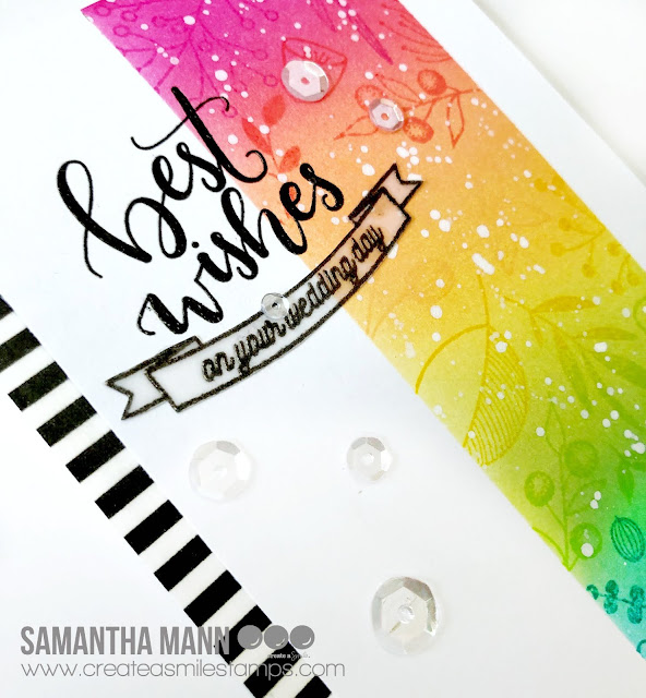 Best Wedding Wishes Card by Samantha Mann - Create a Smile Stamps, distress ink, wedding, rainbow #wedding #cards #inkblending #createasmile