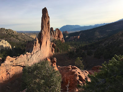 Echo rock,photography,Glen Eyrie,Garden of the Gods,Colorado Springs,CO,Colorado,red sandstone,spire