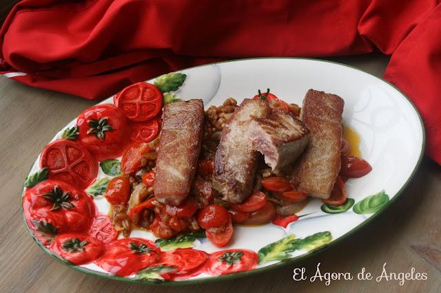 Atún Rojo De Almadraba Con Tomatitos Cherries