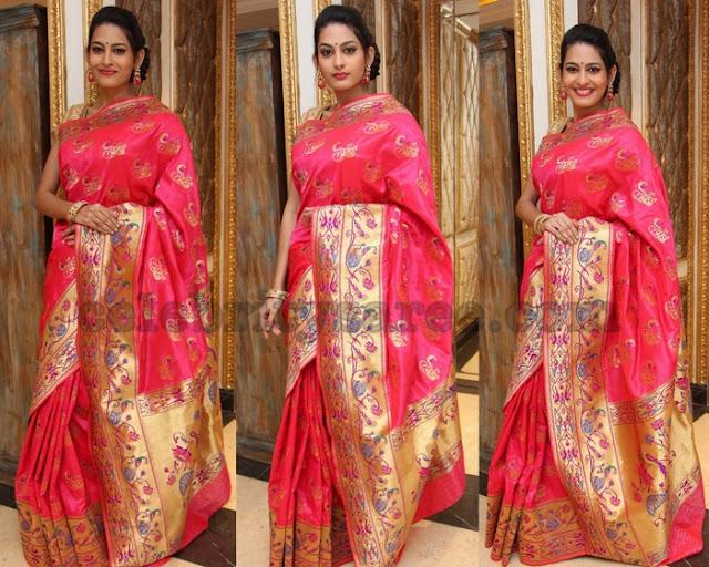 Swetha Jadhav Pythani Saree