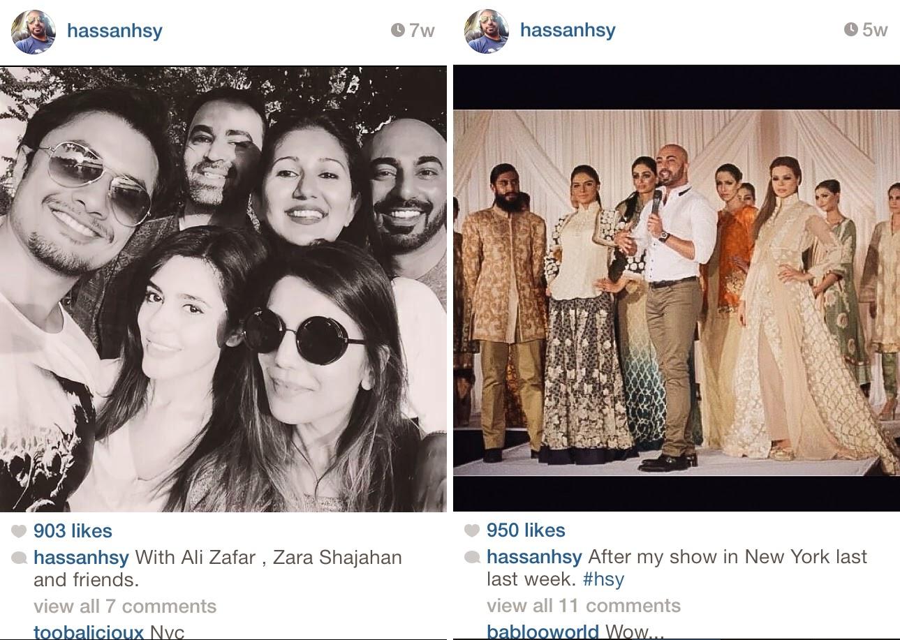 HSY with Ali Zafar -  Pakistan Instagram Accounts