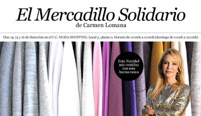 Mercadillo Solidario de Carmen Lomana