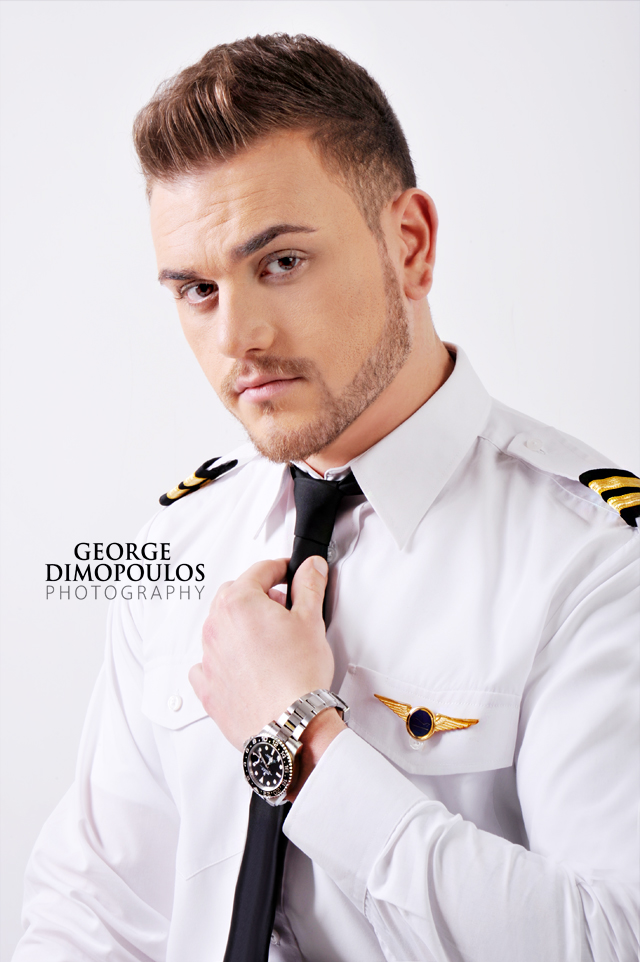 GEORGE DIMOPOULOS PHOTOGRAPHY Professional Pilot Studio Photoshoot