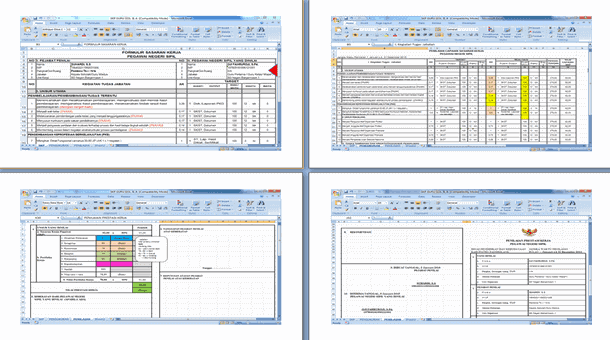 Aplikasi SKP Guru dan Kepala Sekolah Format Microsoft Excel