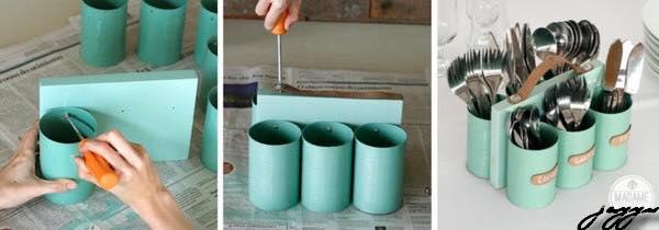 Manualidades con latas de conserva recicladas