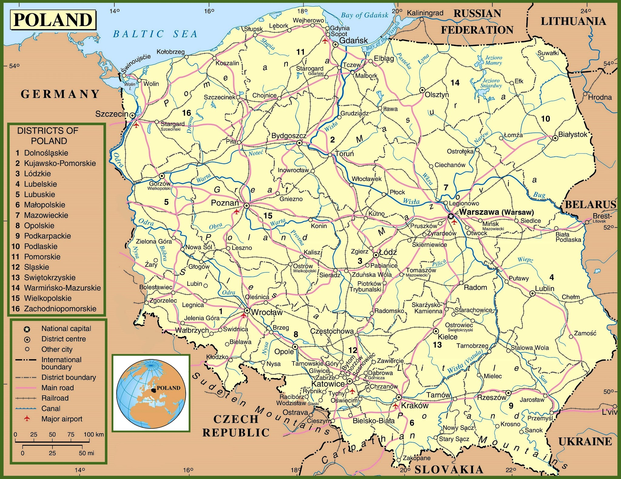 Poland map hd poland proudly europe global villageglobal village republic of poland map hd world maps poland map hd gumiabroncs Images