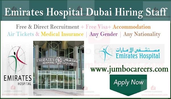Emirates Hospital Dubai Latest Job Vacancies and Free Staff Recruitment