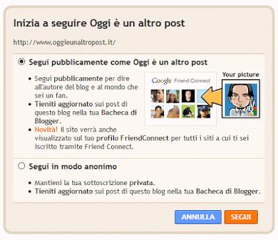 Come aggiungere il link 'Segui questo blog' su blogger