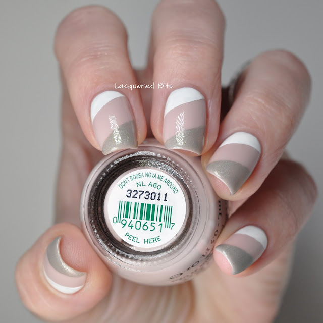 White, Taupe & Grey nails