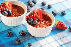 Crema Brulee con Frutas