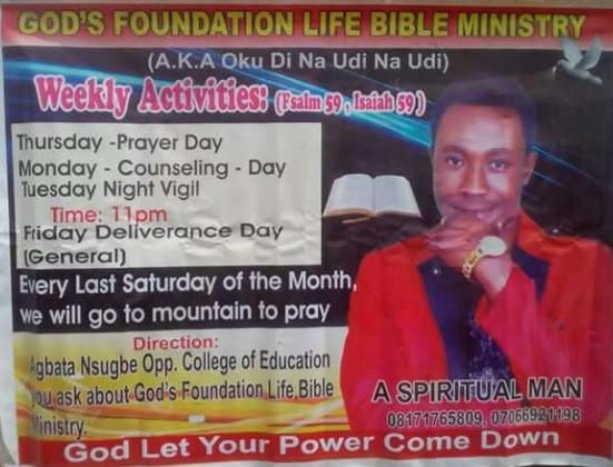 pastor kills landlady anambra
