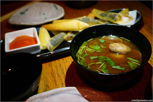 Platos del Restaurante Japonés Sakagura en Nueva York