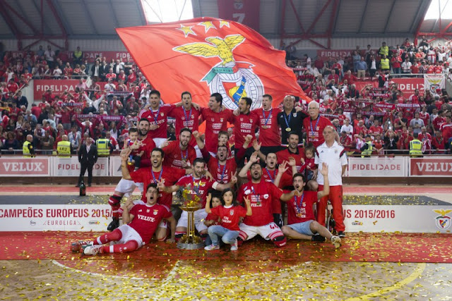 HOCKEY PATINES - CERH Champions League masculina 2016: Benfica cosecha su segunda Liga Europea ante Oliveirense