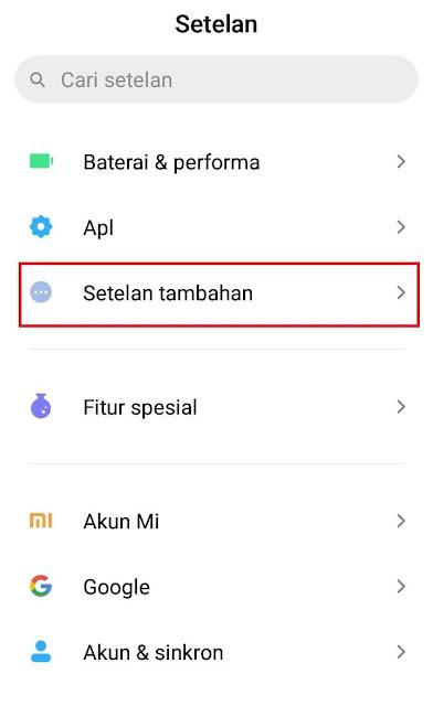 cara merubah bahasa arab ke indonesia di hp xioami