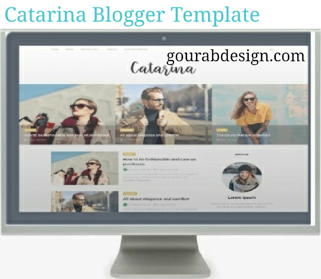 Catarina blogger template image
