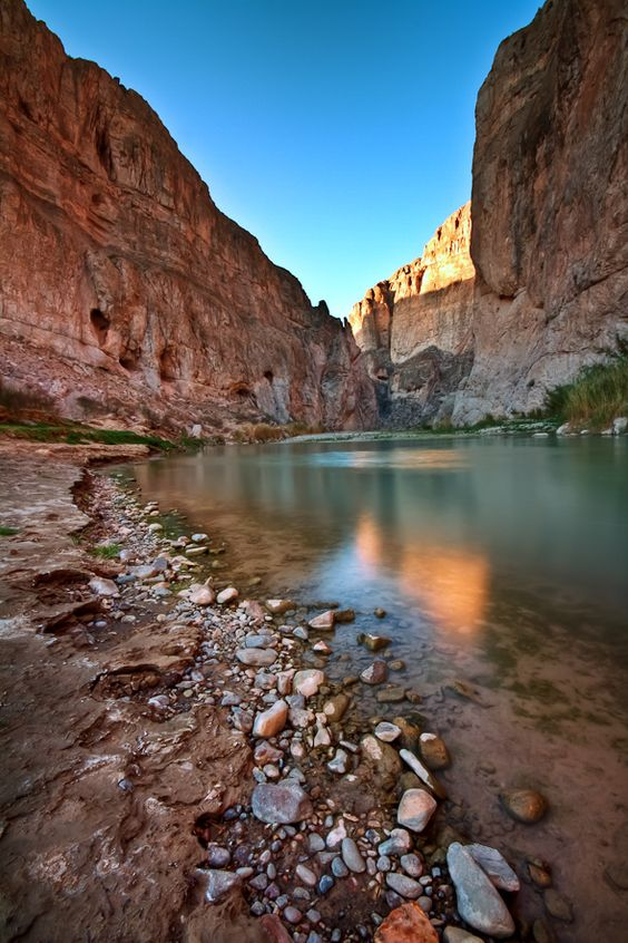 In Big Bend National Park in Texas, Boquillas Canyon lies just a short drive from the campground at Rio Grande Village.
