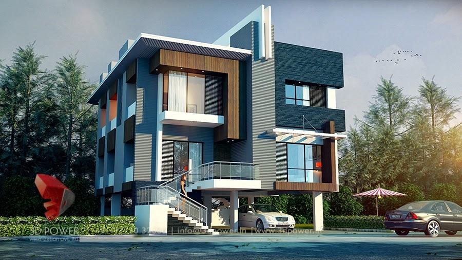 3D Architectural Rendering Bungalow Exterior