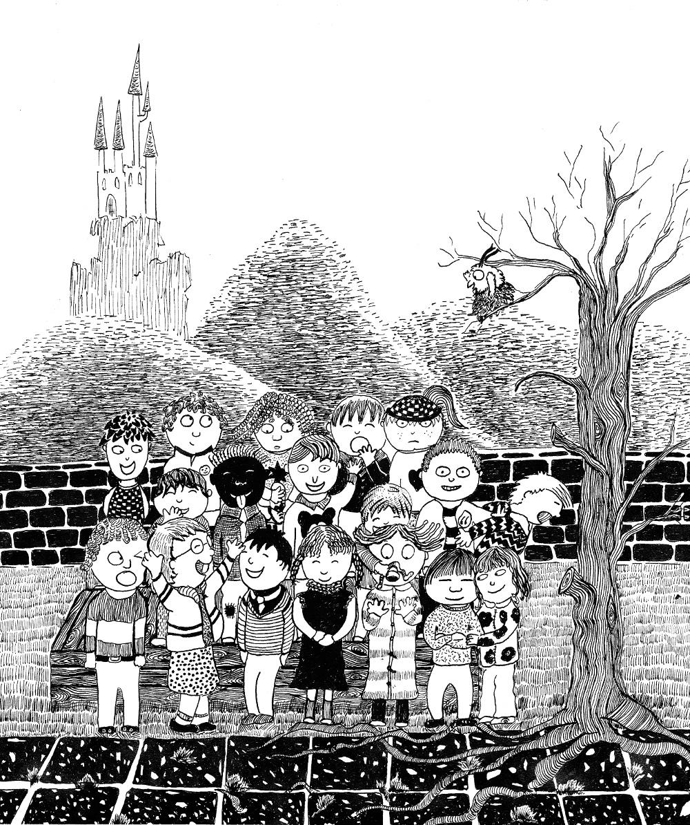 """illustration jeunesse children encore ink """"rentrée scolaire"""" """"photo de classe"""" children school"""