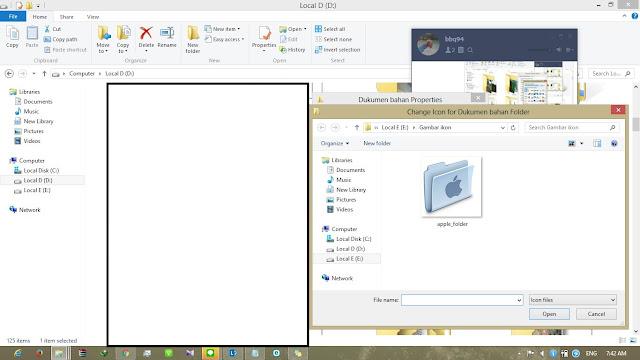 cara mengganti ikon folder