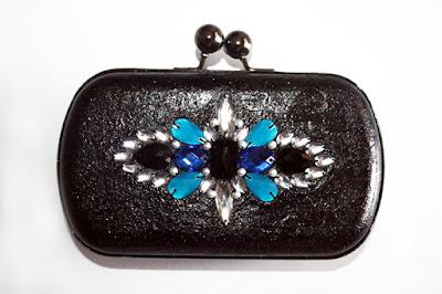 Clutch bolso joya azul electrico para vestido azulón