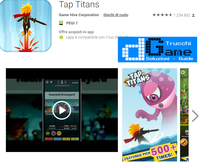 Soluzioni Tap Titans livello 131 132 133 134 135 136 137 138 139 140 | Trucchi e  Walkthrough level