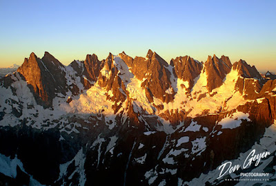 The Southern Picket Range as seen from above Luna Saddle in North Cascades National Park, Washington, USA