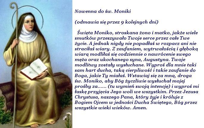 Modlitwa Na Każdy Dzień Modlitwy Do św Moniki