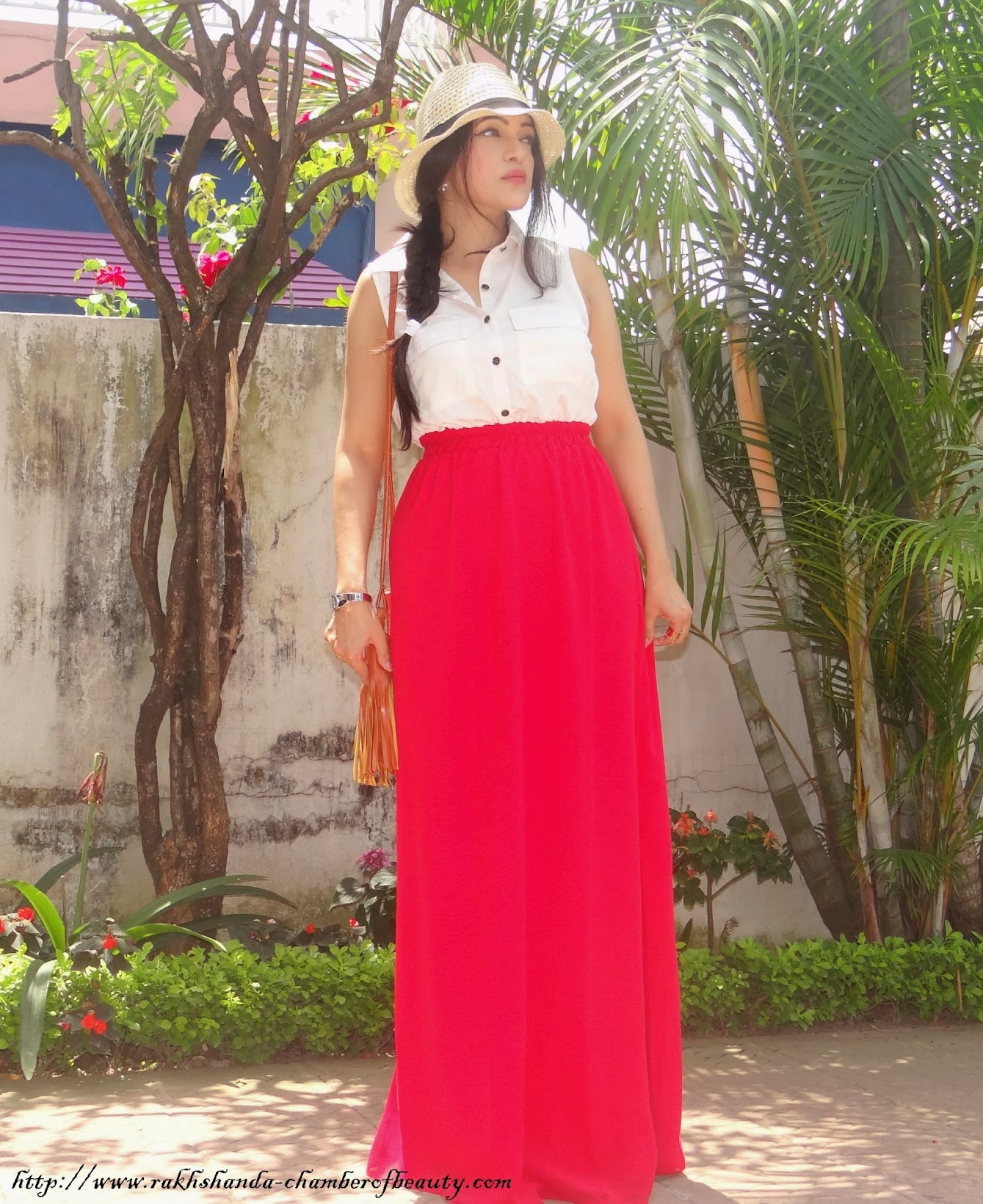 Red and White maxi dress-OOTD, Stalkbuylove.com, Chamber of Beauty