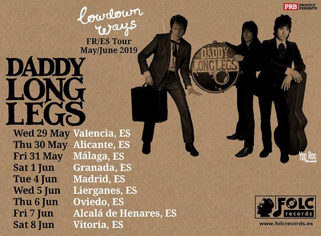 Gira Daddy Long Legs!!! - 9 citas en España