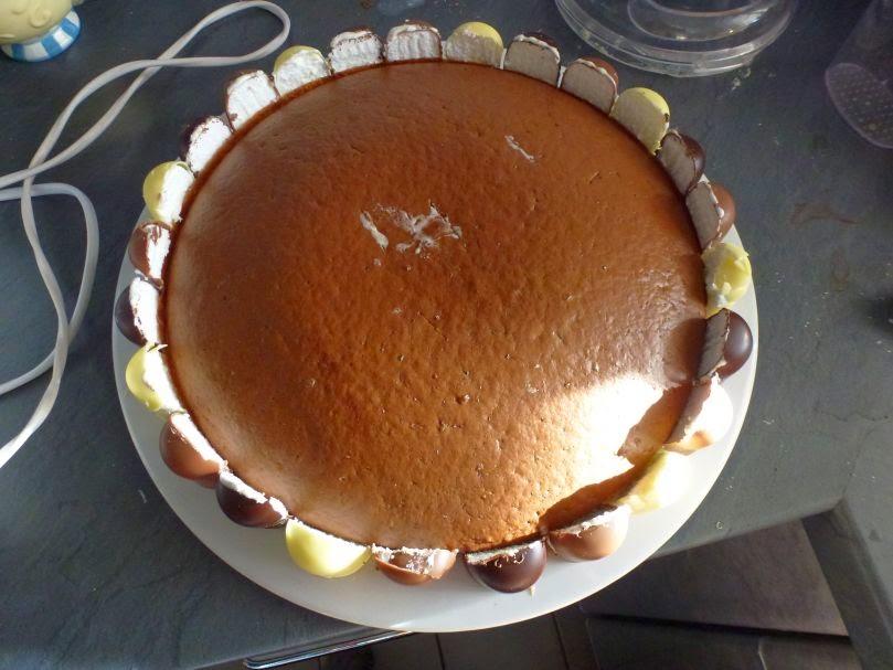 Grundgerüst der Schaumkuss-Torte