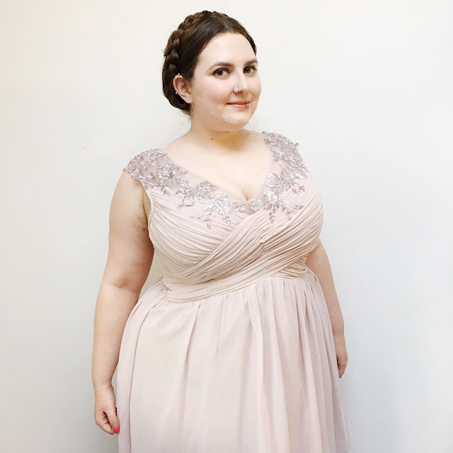 Plus size red carpet look