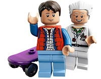 LEGO, Back To The Future, Marty McFly, Doc Brown, minifigs