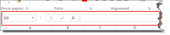 Position barre de formule
