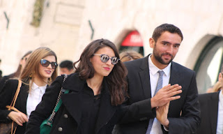Marin Cilic And His Girlfriend Kristina Milkovic At The Airport