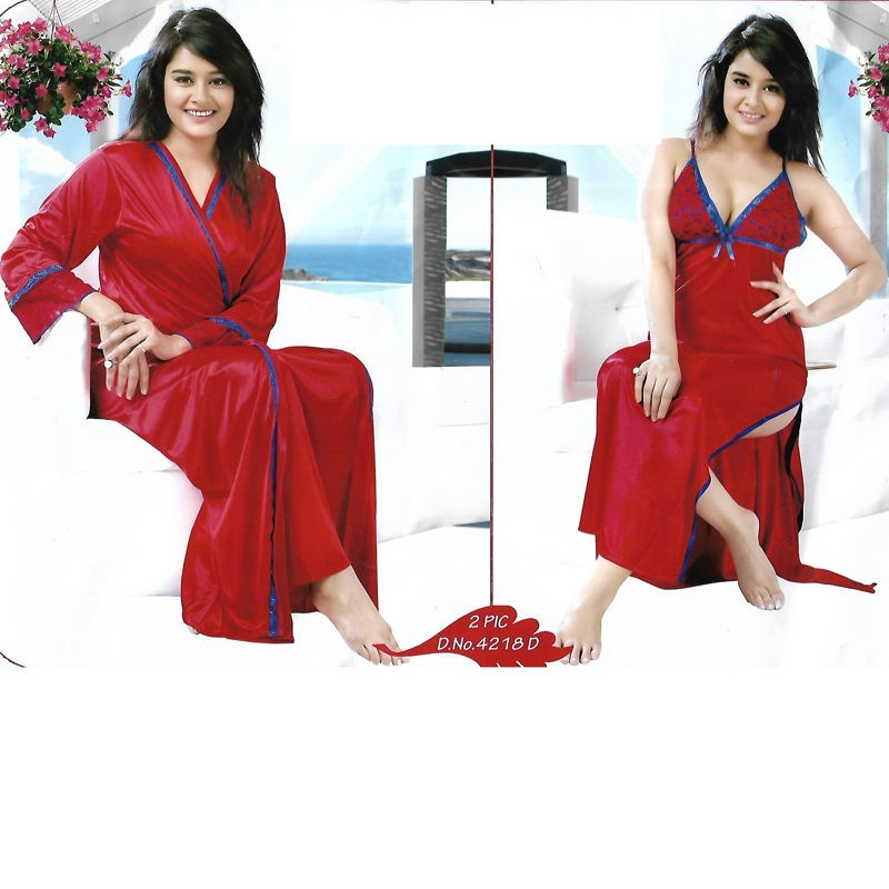 852ac8b841 This 2pcs of Scarlet Elegant Nighty set is very elegant looks and made with  Satin silky fabric that makes sexier on this dress to make your night mode  more ...