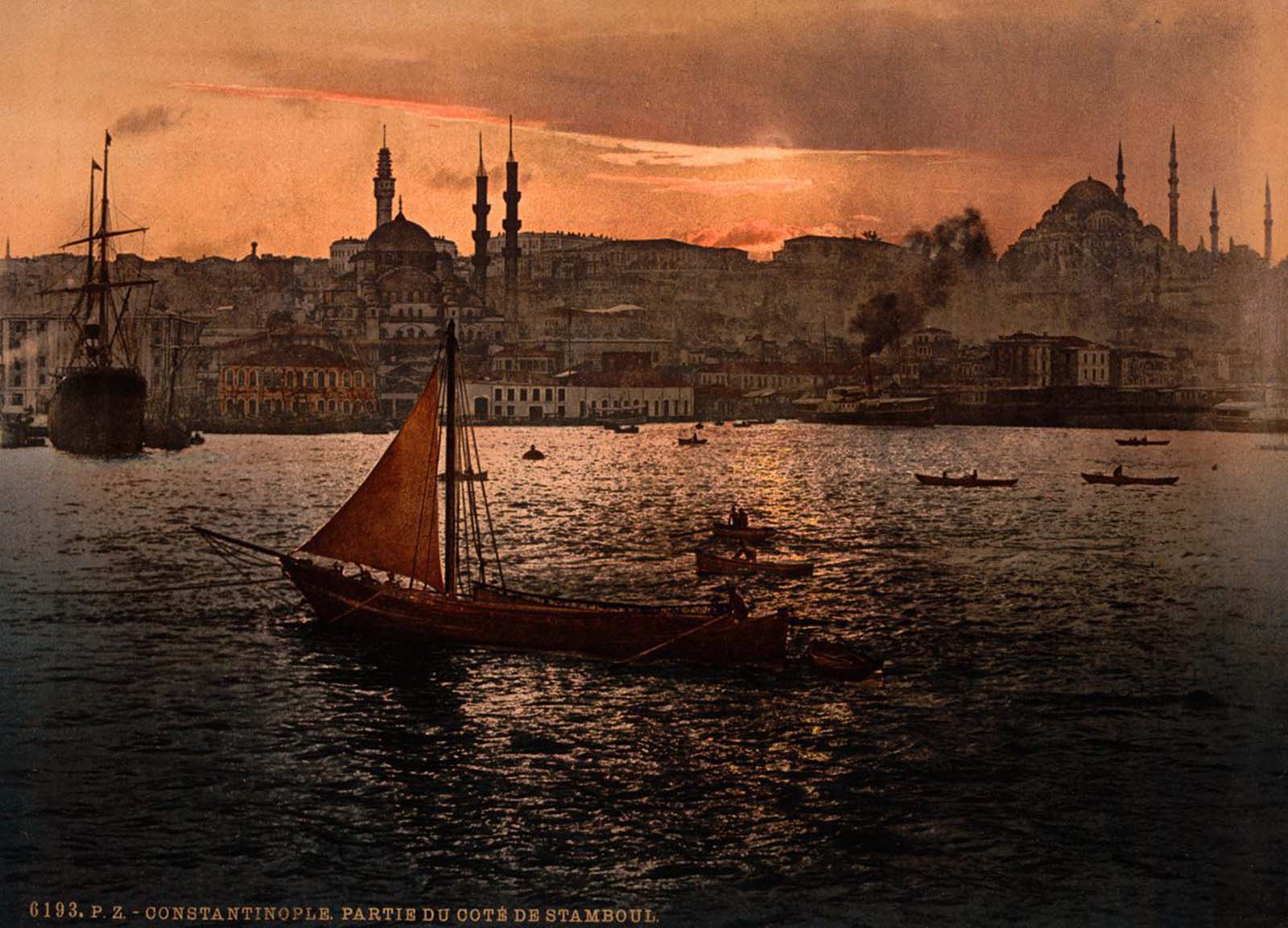 The harbor of Constantinople.