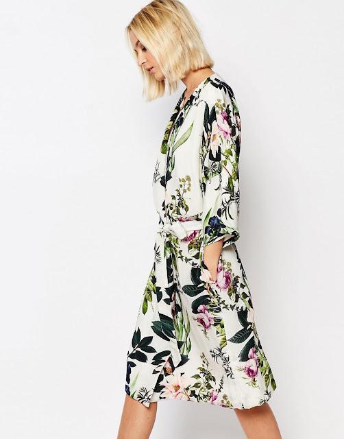 gestuz floral print dress, gestuz wrap dress,