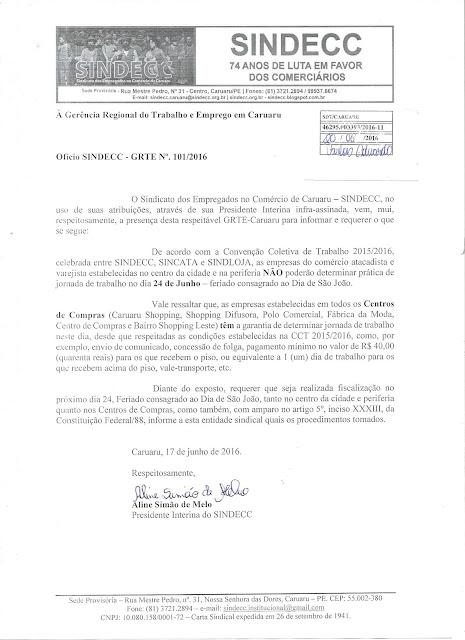 o-sindecc-requer-fiscalizacao-junto-ao-ministerio-do-trabalho-para-o-feriado-de-24-de-junho
