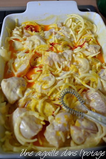 Marinade yaourt  safran et au citron