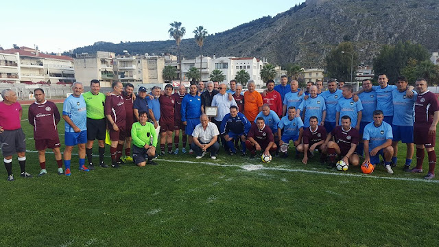 Φιλικός αγώνας των Βετεράνων της Προοδευτικής με την ομάδα FC CELEBRITIES NAFPLIO