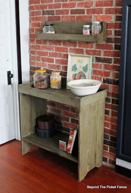 Primitive Dry Sink Made from Pallets