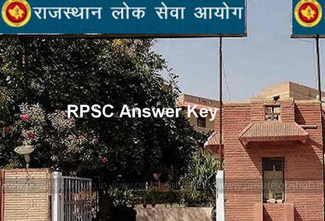 RPSC Answer Key