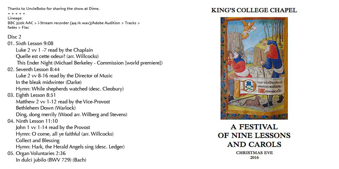 Reliquary King S College A Festival Of Nine Lessons And Carols