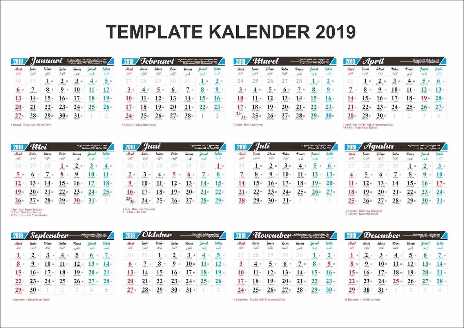 download kalender 2019 cdr pdf psd gratis. Black Bedroom Furniture Sets. Home Design Ideas