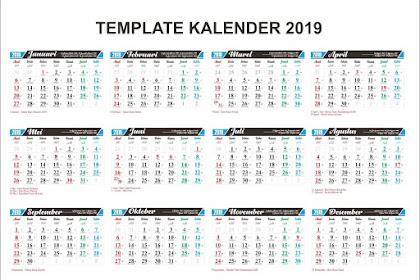 Download Kalender 2019 CDR, PDF, PSD Gratis