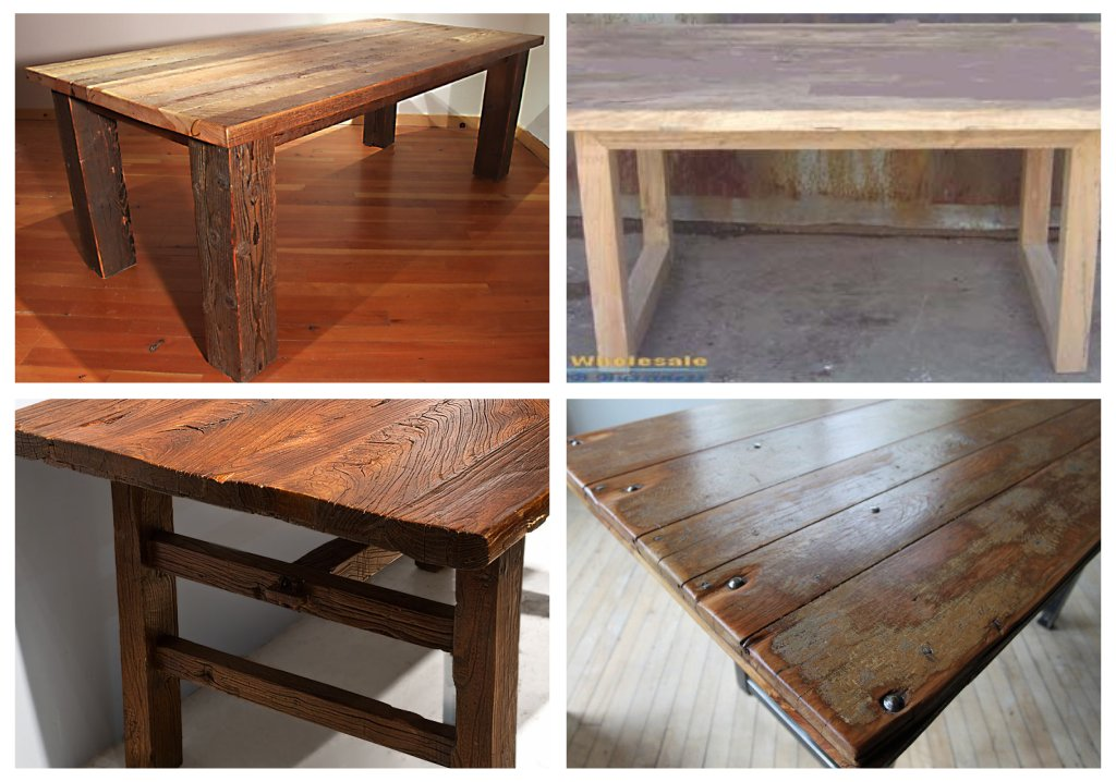 The Great Indoors Our Reclaimed Barnwood Table