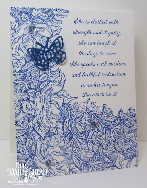 ODBD Mom, ODBD Custom Bitty Butterflies Dies, Card Designer Angie Crockett